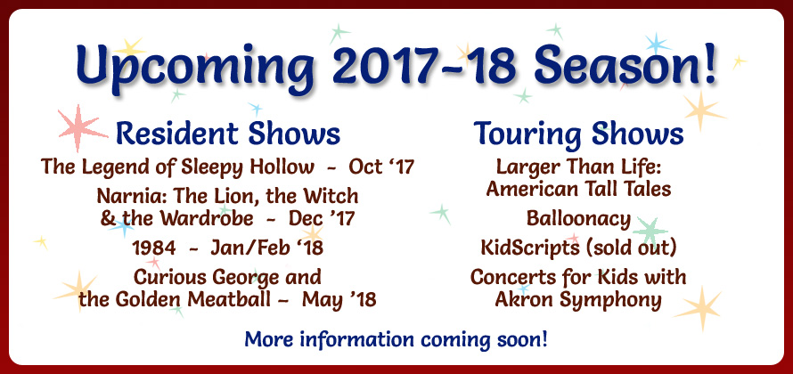 upcoming shows for the 2017 - 2018 season